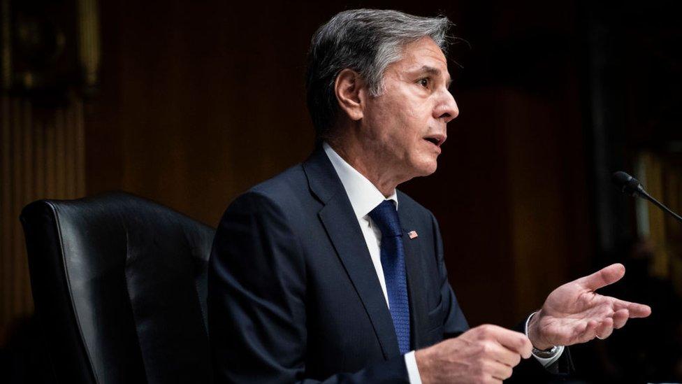 وزير الخارجية الأمريكي أنتوني بلينكن يدلي بشهادته في مجلس الشيوخ حول انسحاب الولايات المتحدة من أفغانستان