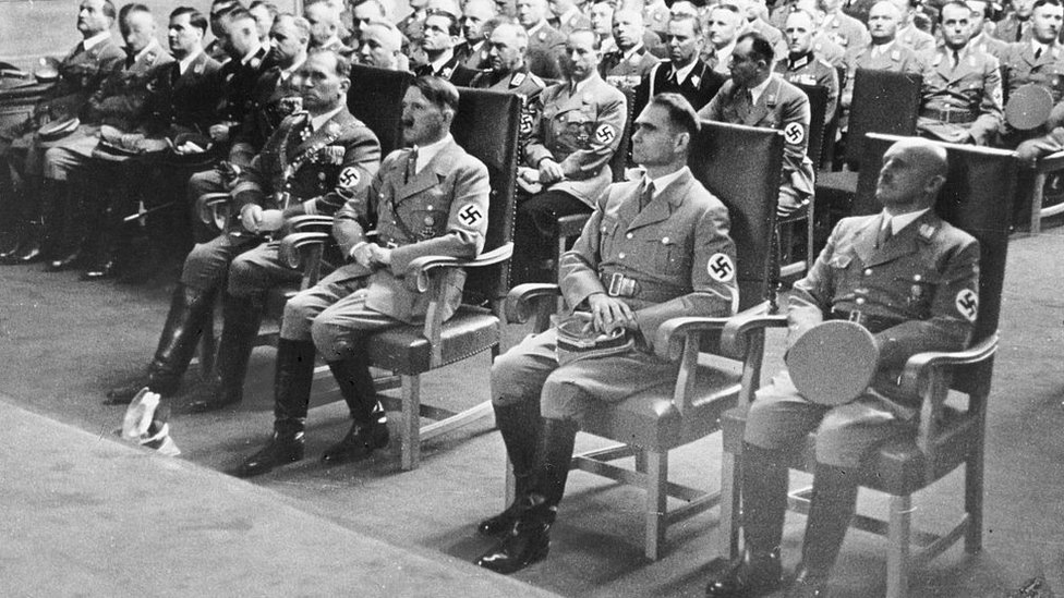 Hitler y la cúpula nazi en Nuremberg