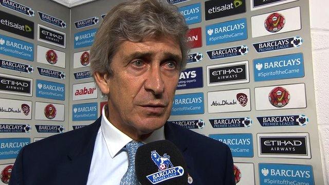 Manchester City 2-1 Norwich: Pellegrini praises 'character'