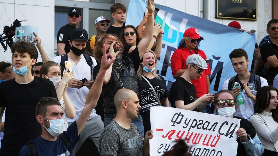 В Хабаровске прошел многотысячный митинг в поддержку Фургала. Его называют крупнейшим в истории города
