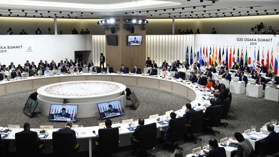 Members of the G20 summit meet