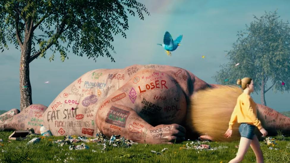 Captura de uno de los fragmentos del videoclip de Beeple que traspasó Pablo.