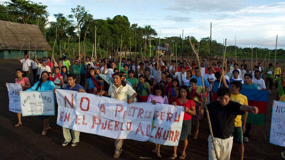 Una protesta contra Petroperú en la Amazonía