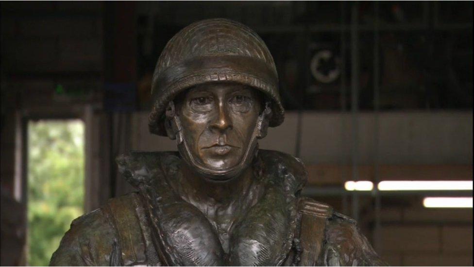 Paratrooper statue