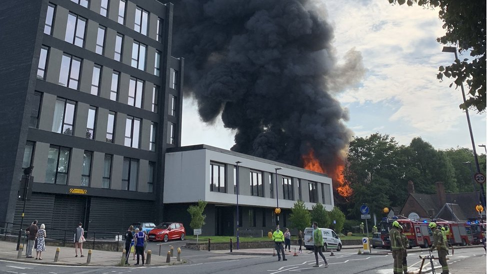 Fire at the Cadbury Club in Bournville, Birmingham