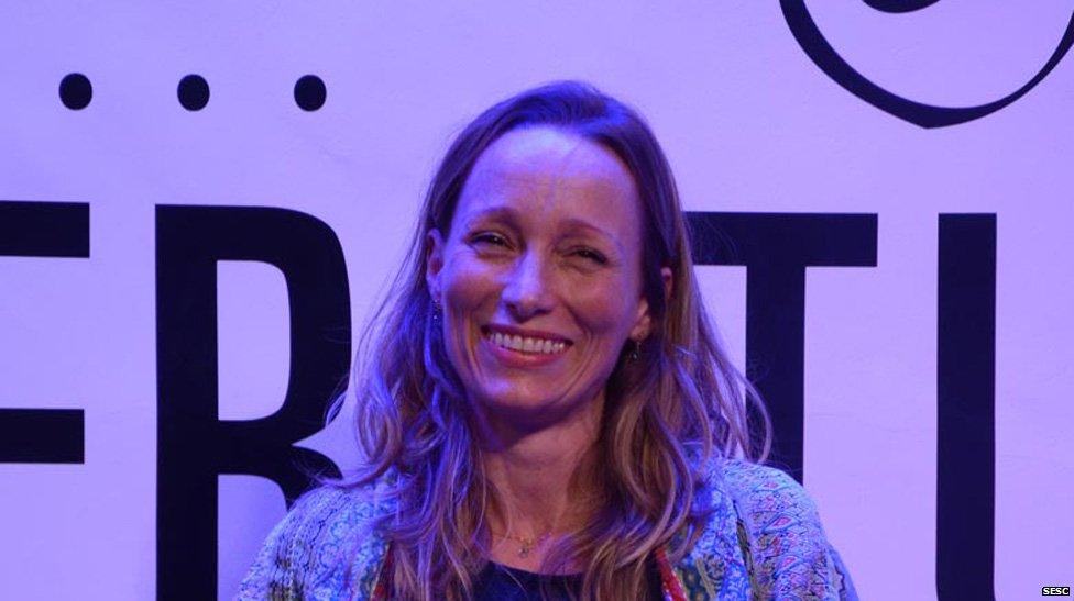 Alison Entrekin at the FLIP literary festival