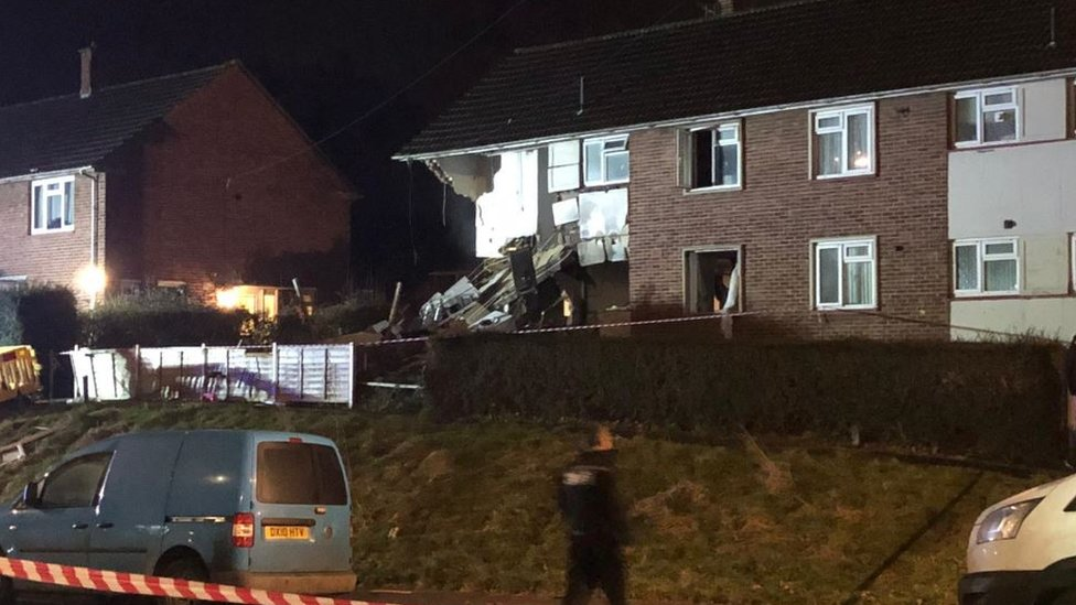 Bristol 'explosion': Three people injured as flats are damaged
