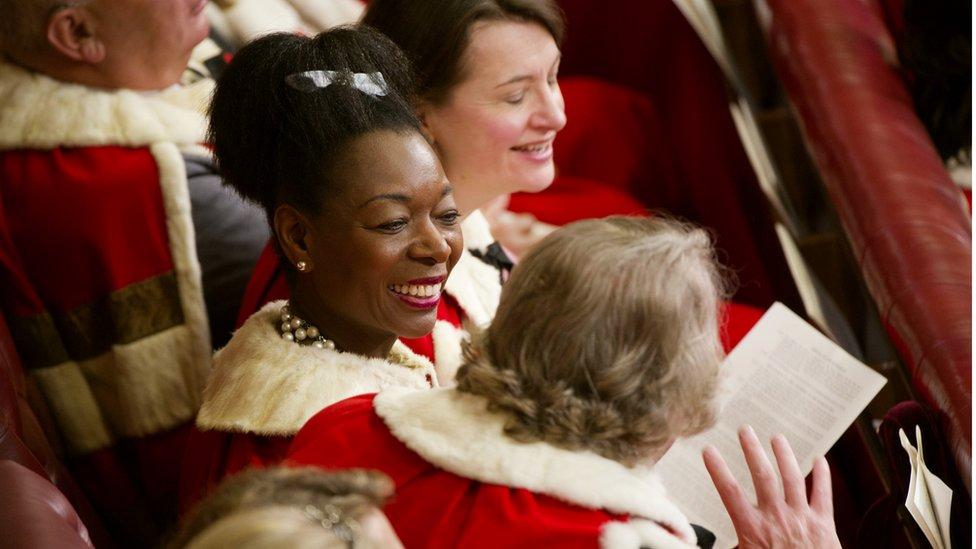 Floella Benjamin in House of Lords