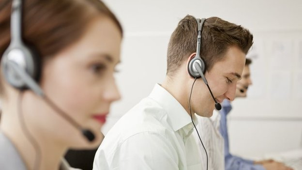 Young call centre workers