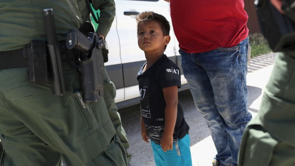 Trump says US will not be a migrant camp