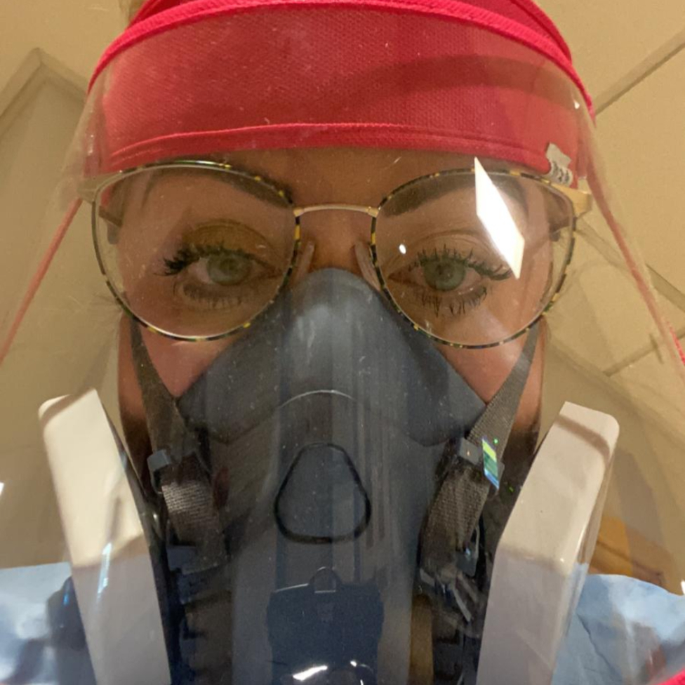 Becky Aird in PPE
