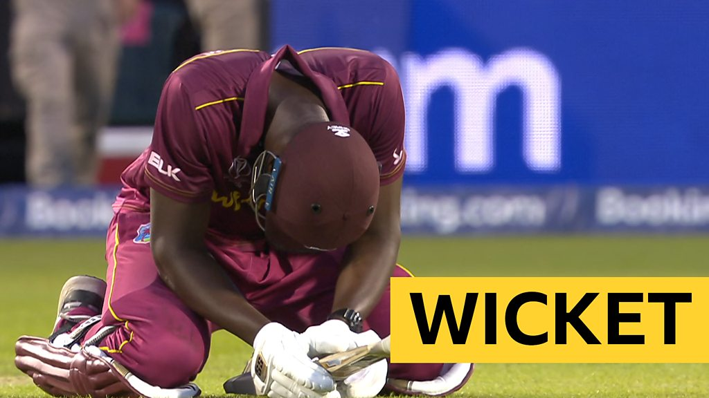 Cricket World Cup: Carlos Brathwaite caught looking for Windies win against New Zealand