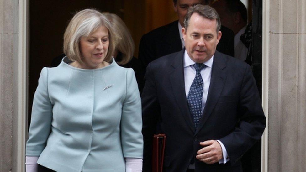Theresa May and Liam Fox