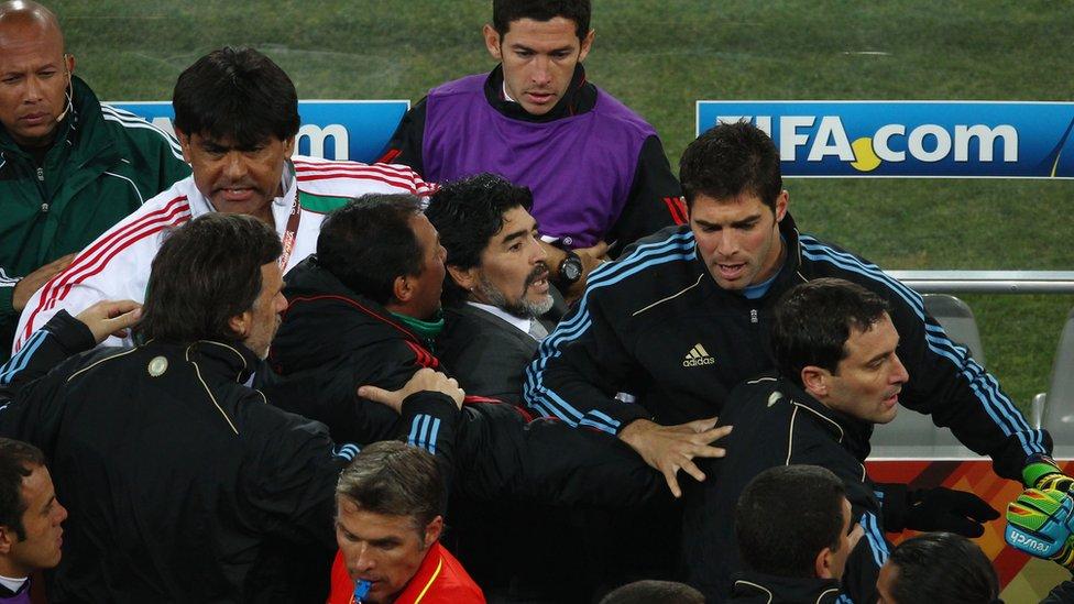 Maradona en Sudáfrica