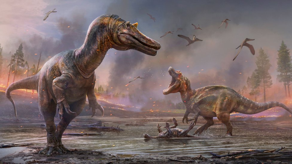 Yeni türlere Ceratosuchops inferodios (solda) ve Riparvenator milnerae isimleri verildi