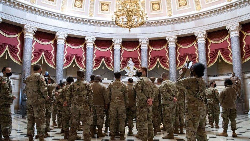 Guardia Nacional en el Capitolio