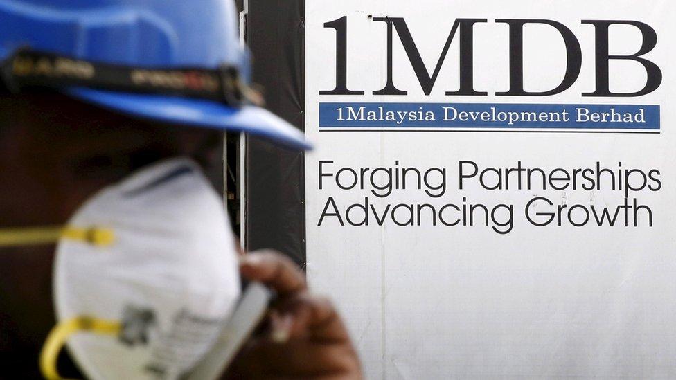 A logo for the 1MDB fund