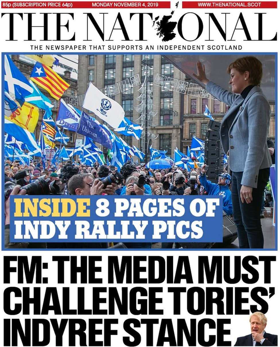 The National front page