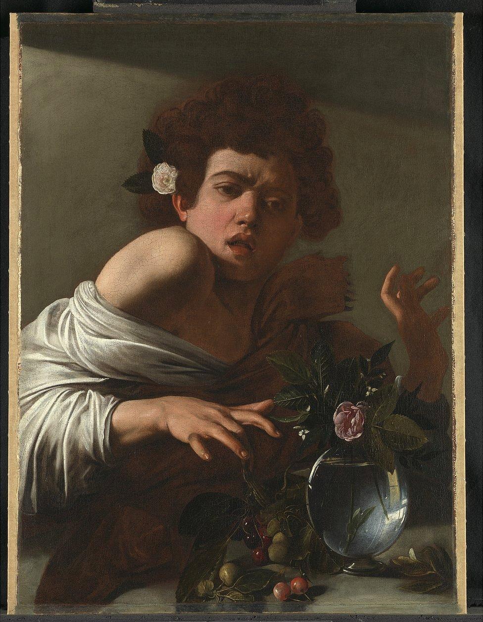 Boy Bitten by a Lizard by Caravaggio