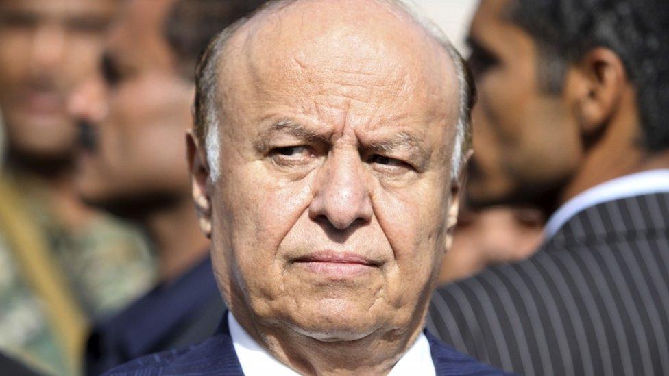 Yemeni President Abed Rabbo Mansour Hadi
