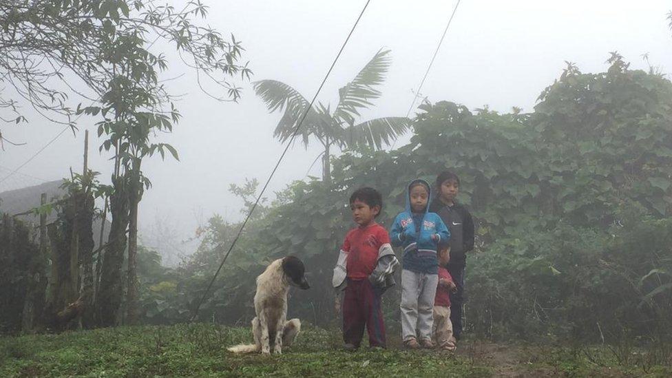 Niños en Huehuetenango.