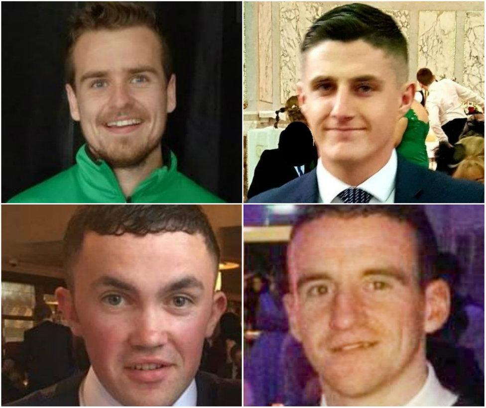 Clockwise from top left: Mícheál Roarty, Daniel Scott, John Harley and Shaun Harkin