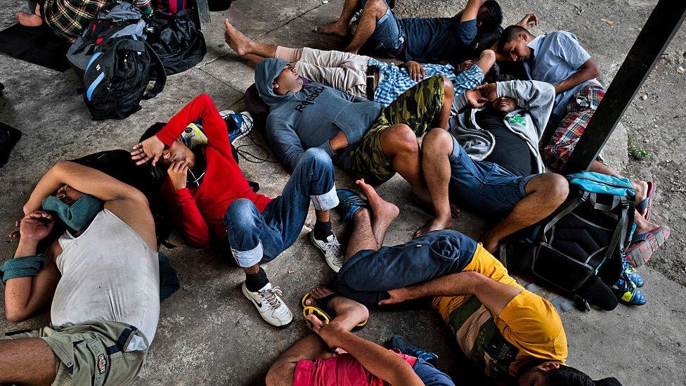 Migrantes nepalíes atrapados en Panamá.