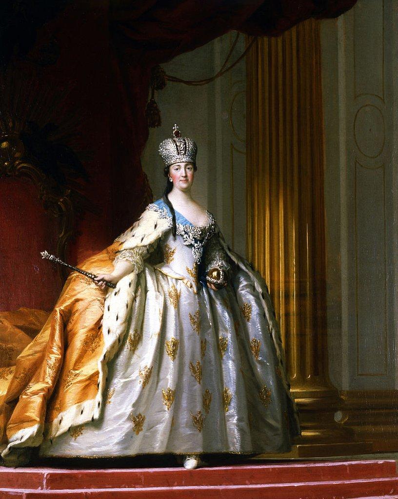 """Retrato de la coronación de Catalina """"La Grande"""". Artista: Erichsen, Vigilius (1722-1782)"""