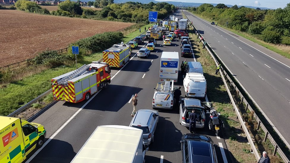 Inquests opened and adjourned into M5 Taunton crash