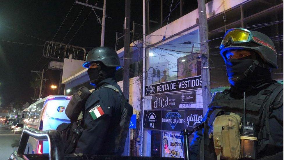 Policias en el municipio de Reynosa
