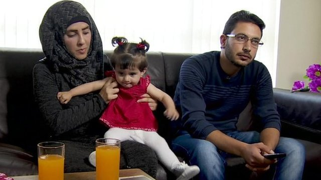 Suha is here with her husband Abdul Aziz and their baby daughter Arerm