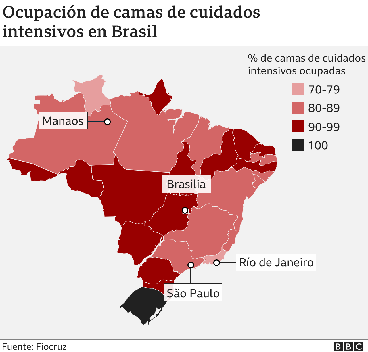 Mapa Brasil de cuidados intensivos