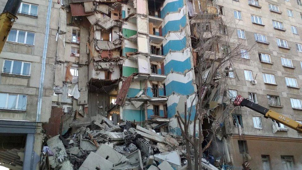 srušena zgrada u Magnitogorsku