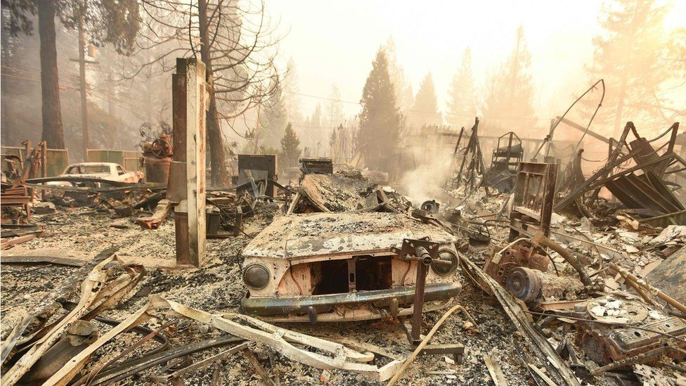 El pueblo de Paradise, destruido por los incendios.