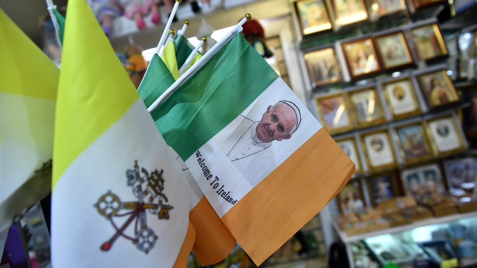 Merchandise marking the papal visit to Ireland has been selling like hotcakes