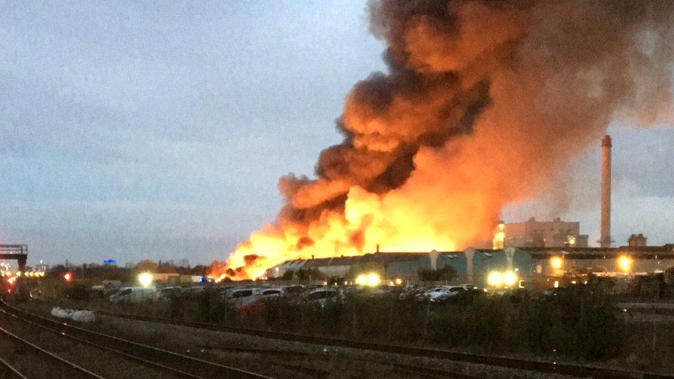 Tyseley fire: Photo reveals Birmingham furniture warehouse damage