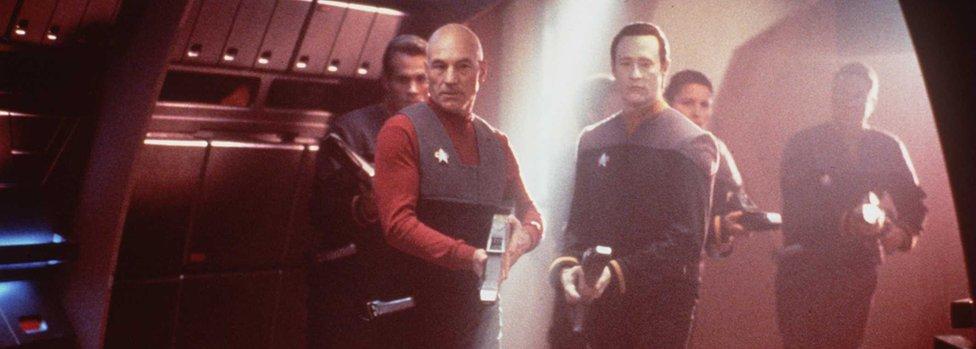 Patrick Stewart stars in the new movie 'Star Trek: First Contact'.