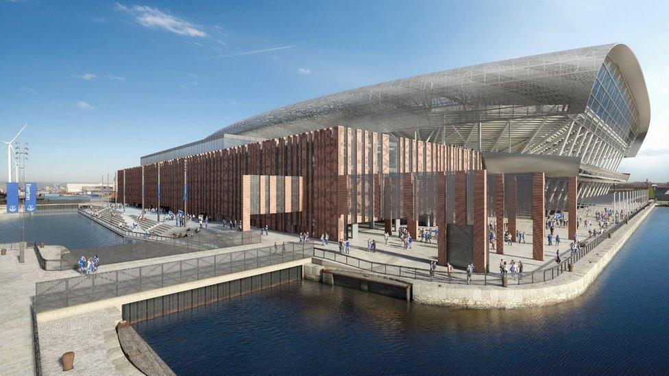 Artist impression of Bramley-Moore Dock