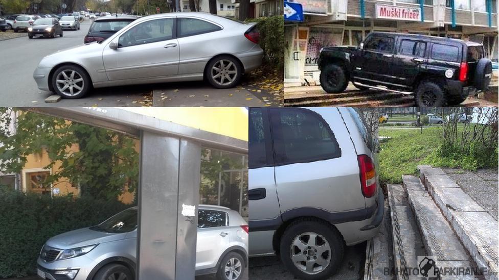 Fotografije najbahatijih vozača slali su tokom godine sajtu Bahatoparkiranje obični ljudi. U arhivi ih ima nekoliko hiljada