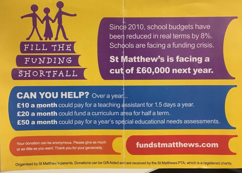 St Matthew's Primary School leaflet