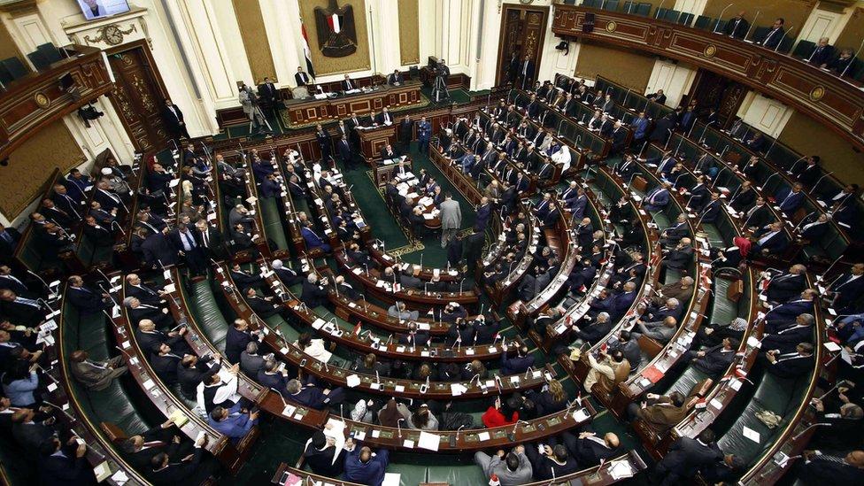 لقطة لمجلس النواب المصري أثناء جلسة