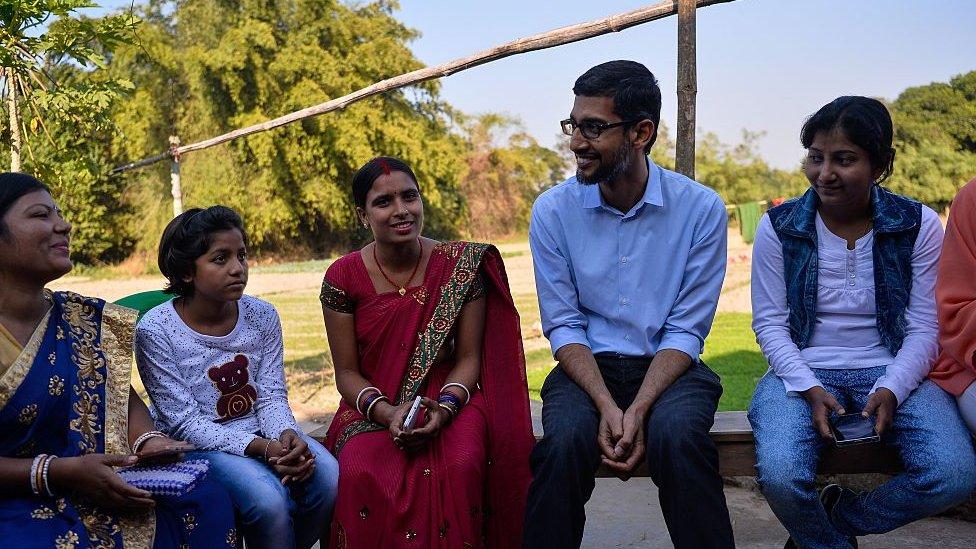 Sundar Pichai en India, 2017
