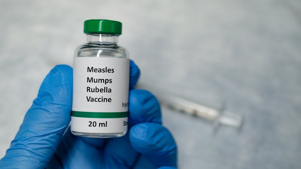Vacuna contra el sarampión.