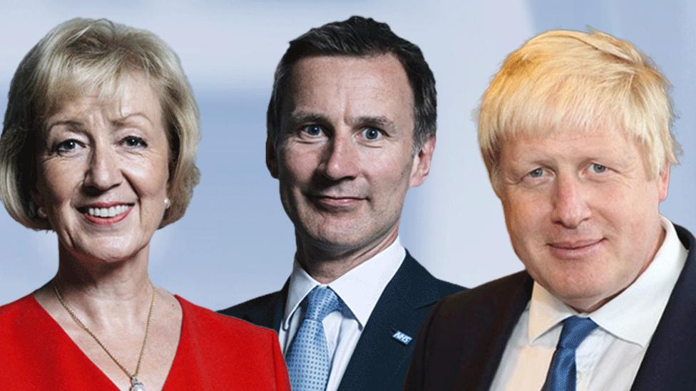 Andrea Leadsom, Jeremy Hunt, Boris Johnson