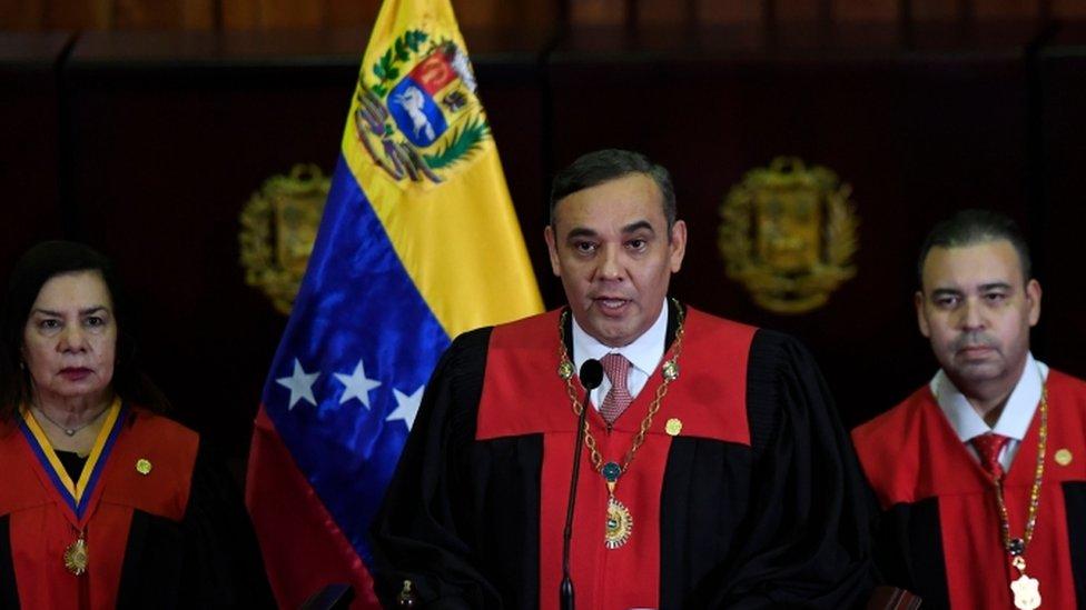 Maikel Moreno, presidente del TSJ.