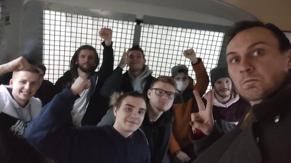 Manifestantes arrestados en Moscú