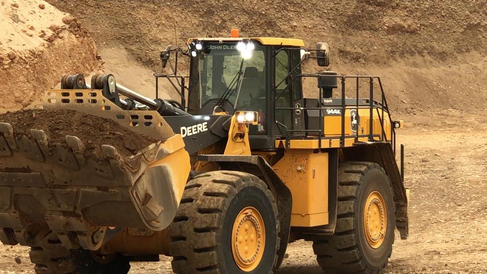 Large remote-controlled loader