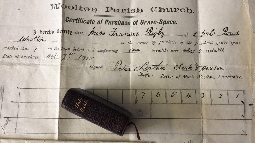 Deeds to Eleanor Rigby's grave