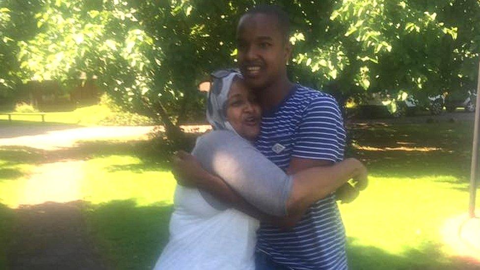 Nura Aabe and her son Zak Mohamed