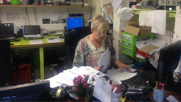 Helen Rice at work